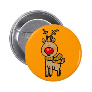 Red-nosed reindeer 2 inch round button