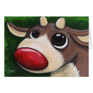 Red Nosed Reindeer - Christmas Card