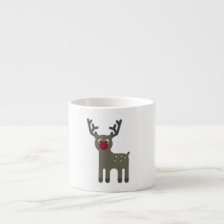 Red Nosed Reindeer Espresso Cup