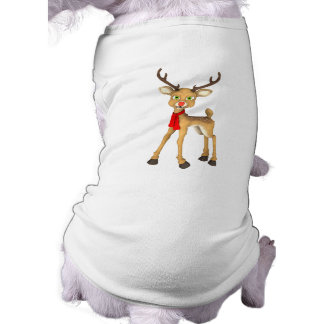 Red Nosed Reindeer Holiday Dog Clothes