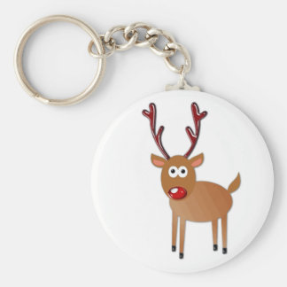 Red Nosed Reindeer Keychain
