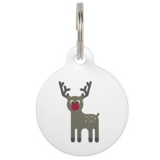 Red Nosed Reindeer Pet ID Tag