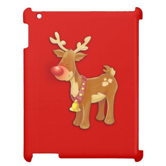 Red Nosed Reindeer Red iPad Cases