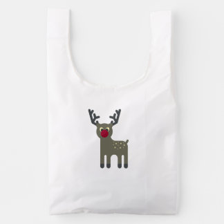 Red Nosed Reindeer Reusable Bag