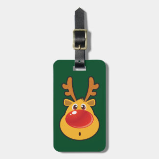 Red Nosed Reindeer Rudolph Travel Bag Tag