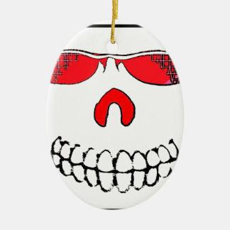 Red Nosed Smile Ceramic Ornament