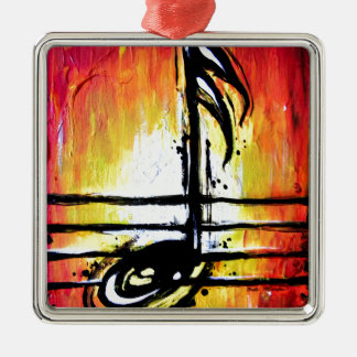 Red Note Metal Ornament