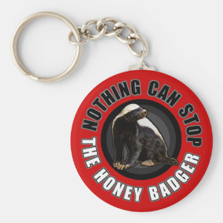 Red Nothing Can STOP the Honey Badger Basic Round Button Keychain