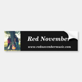Red November Bumper Sticker 2