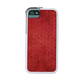 Red Nubby Chenille Fabric Texture iPhone SE/5/5s Cover