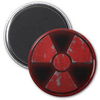 Red Nuke 2 Inch Round Magnet