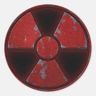 Red Nuke Classic Round Sticker
