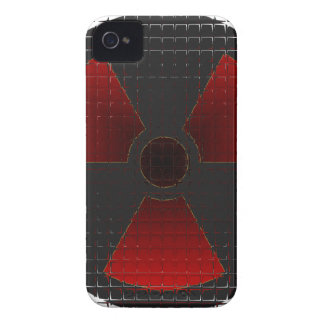 Red Nuke Glass for BB Case-Mate iPhone 4 Case