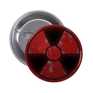 Red Nuke Pinback Button