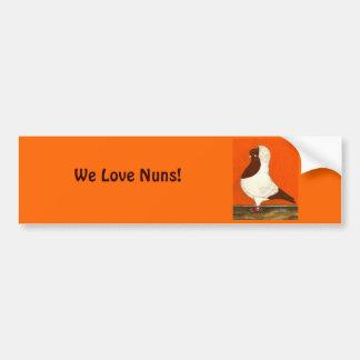 Red Nun Pigeon Bumper Sticker