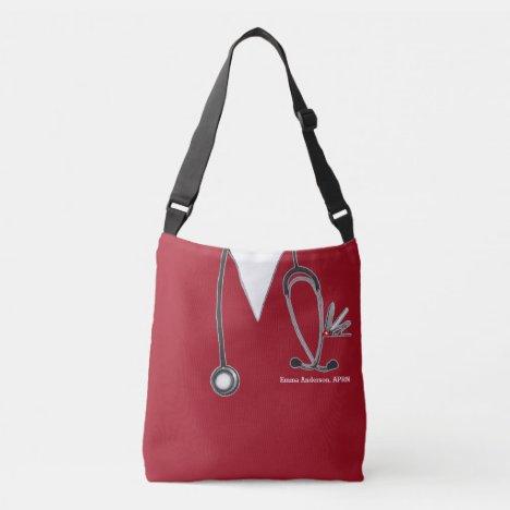 red nurse purse crossbody bag