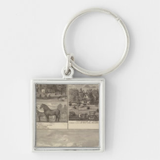Red Oak farm & residence, Center Tp Keychain