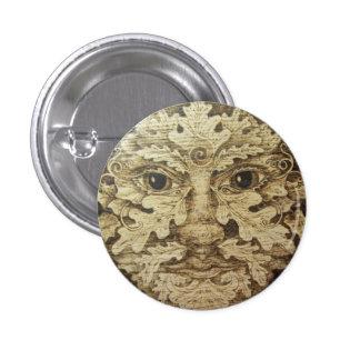 Red Oak Greenman Button Pin