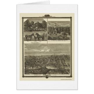 Red Oak, IA Panoramic Map - 1875 Card