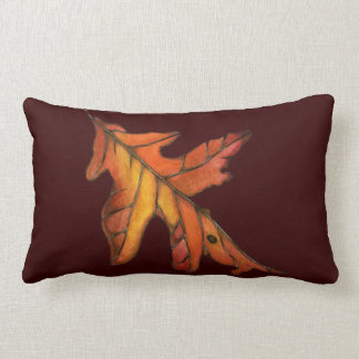 Red Oak Leaf Lumbar Pillow