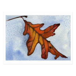 Red Oak Leaf Postcard