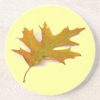 Red Oak Leaf Sandstone Coaster