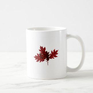 Red Oak Leaves Coffee Mug