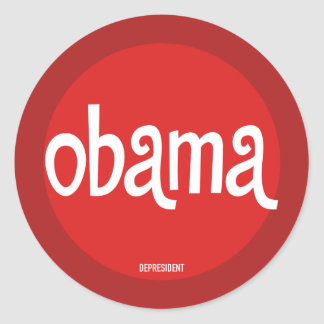 Red Obama Stickers