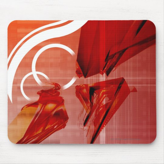 Red objects with white lines mouse pad
