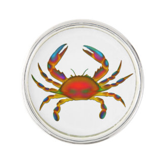 Red Ocean Crab Lapel Pin
