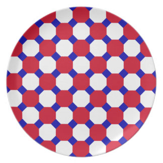 Red Octagon Plate