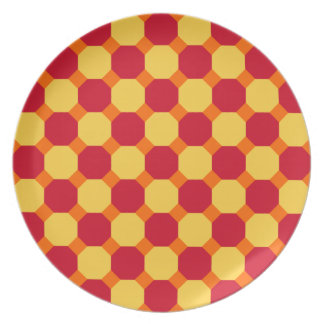 Red Octagon with Orange Plate
