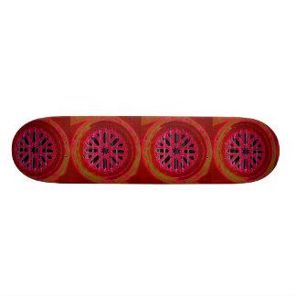 red octagonal design skateboard