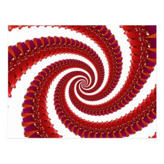 Red Octo Spiral Postcard