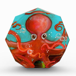 Red Octopus 1 Design Acrylic Award