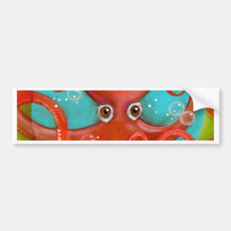 Red Octopus 1 Design Bumper Sticker