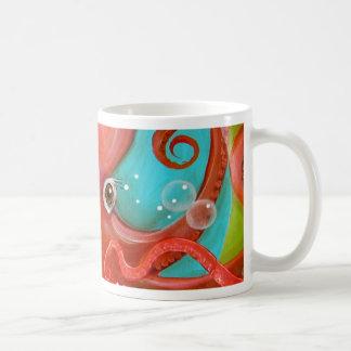 Red Octopus 1 Design Coffee Mug