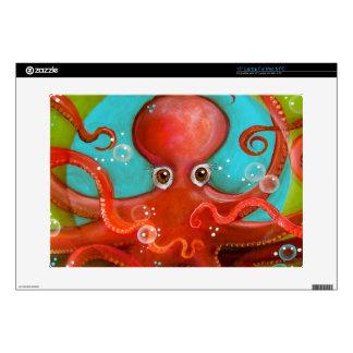 "Red Octopus 1 Design Skins For 15"" Laptops"