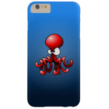 Red octopus barely there iPhone 6 plus case