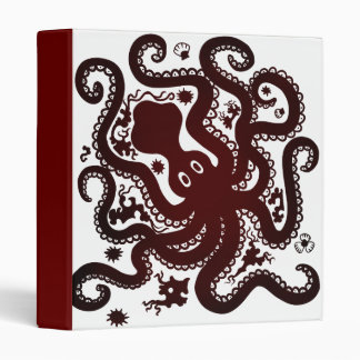 Red Octopus Binder