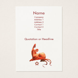 Red Octopus Business Card