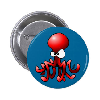 Red Octopus Button
