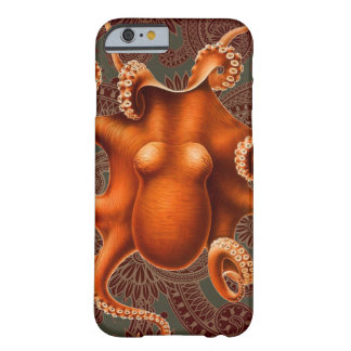 Red Octopus Cephalopod Vintage Kraken Design Barely There iPhone 6 Case