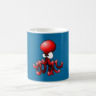 Red Octopus Coffee Mug