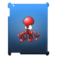 Red octopus cover for the iPad
