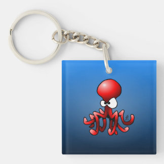 Red octopus keychain