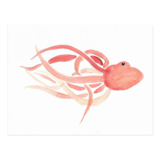 Red Octopus Postcard