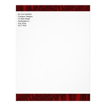 Professional Business Red Octopus Tentacles Customizable Letterhead