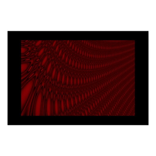 Red Octopus Tentacles Poster
