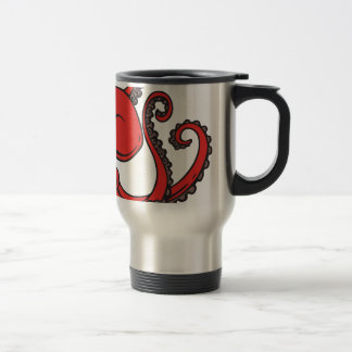 Red Octopus Travel Mug